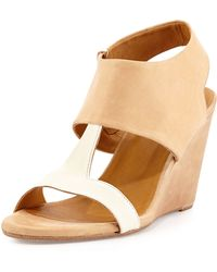 Coclico Jojo Leather T-Strap Wedge - Lyst