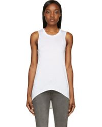 Helmut Lang White Jersey Kinetic Tank Top - Lyst