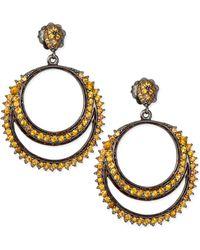 M.c.l  Matthew Campbell Laurenza - Rings Of Fire Orange Sapphire Earrings - Lyst