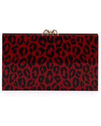Charlotte Olympia Pandora Leopard-print Box Clutch - Lyst