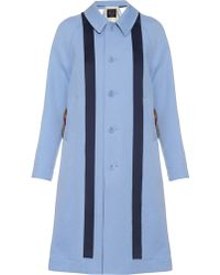 Undercover - Fur-trimmed Crepe Trench Coat - Lyst