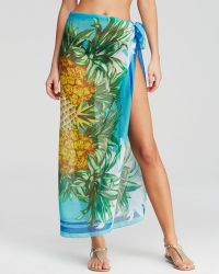 Echo Pineapple Pareo Swim Cover Up - Lyst