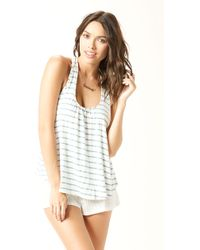 Eberjey Lounge Stripes Cami - Lyst