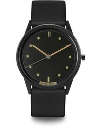 HyperGrand | 01nato Gold Watch On Grey Dial And Brown Leather Strap | Lyst