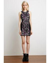 Forever 21 Leopard Print Bodycon Dress - Lyst