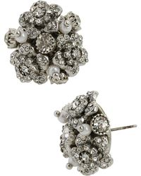 Betsey Johnson Flower Cluster Stud Earrings - Lyst