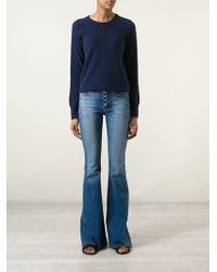 Hudson Raw Edge Waist Flared Jeans - Lyst