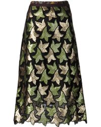 Marc Jacobs Fanfeath Sequin A-Line Skirt - Lyst