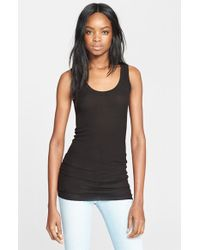 Enza Costa Ribbed Scoop Neck Tank - Lyst