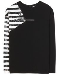 Chloé Crepe Top with Sequin Detail - Lyst