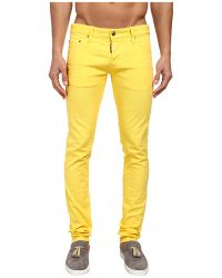 DSquared2 Slim Garment Dyed Jean - Lyst