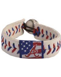 Game Wear - Atlanta Braves Stars And Stripes Bracelet - Lyst