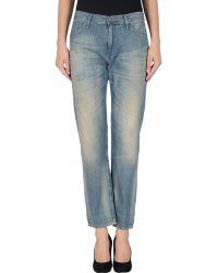 Ralph Lauren Blue Denim Pants - Lyst