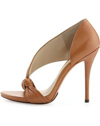 B Brian Atwood - Chryssa Knotted Leather Sandal - Lyst