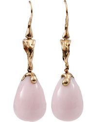 Lucifer Vir Honestus - Pink Opal Drop Earrings - Lyst