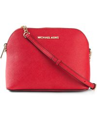 Michael Kors - Cindy Large Calf-Leather Cross-Body Bag - Lyst