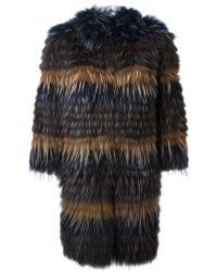 Yves Salomon Marmot Fur Coat - Lyst