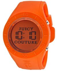 Juicy Couture Digital Orange Dial Orange Rubber - Lyst