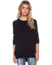 White + Warren Side Cross Over Tunic - Lyst