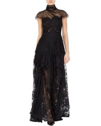 Marchesa Lace Evening Gown - Lyst