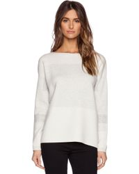 Vince Intarsia Block Sweater - Lyst