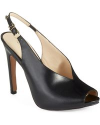Nine West Mintcondit Peep Toe Heels - Lyst