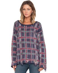 Wildfox All Over Plaid Pullover - Lyst
