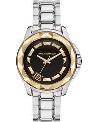 Karl Lagerfeld Unisex Karl 7 Stainless Steel Bracelet Watch 44mm - Lyst