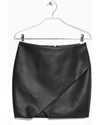 Mango Faux-Leather Origami Skirt - Lyst