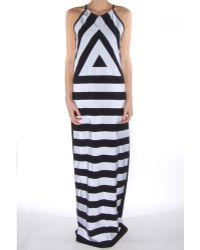 Kenzo Breton Stripes Long Dress - Lyst