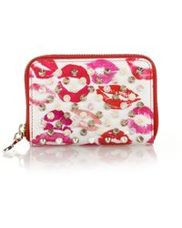 Christian Louboutin | Panettone Lip-print Spiked Coin Purse | Lyst