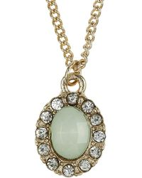 Topshop Stone Necklace Bauble - Lyst