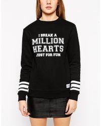A Question Of - Hearts Long Sleeve Sweatshirt - Lyst