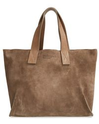 Pedro Garcia Women'S 'City - East West' Suede Tote - Brown - Lyst