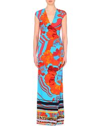 Roberto Cavalli Abstract-Printed Overlay Dress - For Women - Lyst