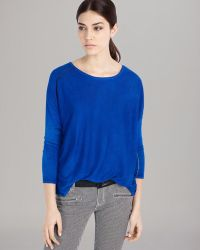 Maje Sweater Leather Piping - Lyst