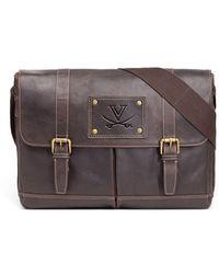 Jack Mason Brand - 'virginia Cavaliers - Gridiron' Leather Messenger Bag - Lyst