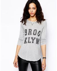 Zoe Karssen Brooklyn Raglan Long Sleeve Tshirt - Lyst