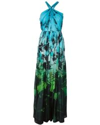 Matthew Williamson Floral Print Evening Dress - Lyst