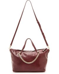 Halston Heritage East  West Chain Satchel - Heather Grey - Lyst