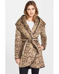 Diane von Furstenberg | Leopard Print Wrap Coat | Lyst