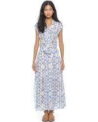 Rebecca Taylor Tie Dye Maxi Dress - Blue Combo - Lyst