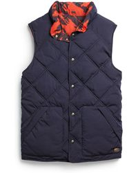 Scotch & Soda - Reversible Diamond Quilted Vest - Lyst