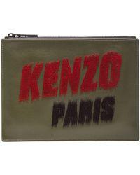 Kenzo Khaki Paris Clutch - Lyst