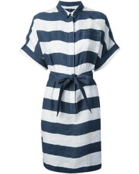 Burberry Brit Tara Striped Shirt Dress - Lyst