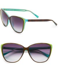 Matthew Williamson 62Mm Oversized Cat'S-Eye Sunglasses multicolor - Lyst