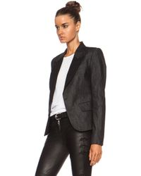 Current/Elliott Charlotte Gainsbourg For The Fitted Cottonblend Blazer - Lyst