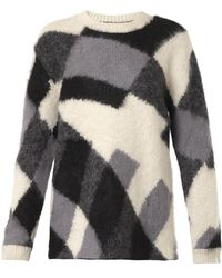 McQ by Alexander McQueen Patchwork-knit Mohair-blend Sweater - Lyst
