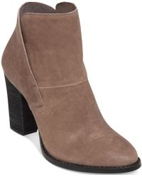 Vince Camuto Beige Ristin Booties - Lyst