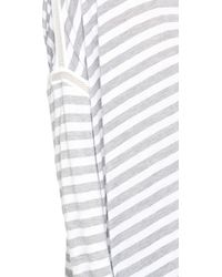 Apres Ramy Brook - Stacey Stripe Top - Heather Grey/white - Lyst